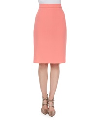 Escada High Waist Pencil Skirt Soft Coral