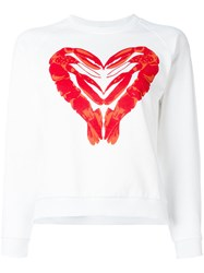 Peter Jensen Lobster Heart Print Sweatshirt White