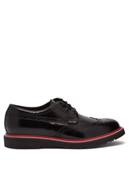 Paul Smith Crispin Patent Leather Brogues Black