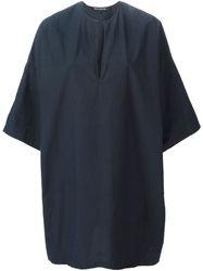 Ter Et Bantine Boxy Batwing Tunic Dress Blue