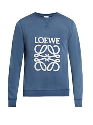 Loewe Logo Embroidered Sweatshirt Blue Multi