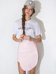 Pixie Market Pink Wrap Mini Skirt
