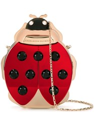 Charlotte Olympia Ladybird Shoulder Bag Red