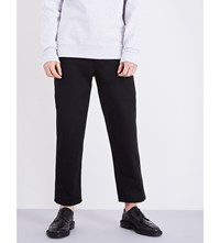 Burberry Relaxed Fit Cotton Twill Trousers Black