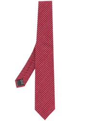 Z Zegna Classic Striped Tie Red