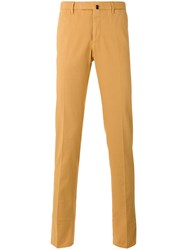 Incotex Skinny Trousers Yellow Orange
