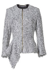 Roland Mouret Cotton And Wool Blend Tweed Jacket