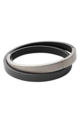 Men's Skagen 'Vinther' Leather Wrap Bracelet