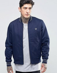 Fred Perry Bomber Jacket In Carbon Blue Carbon Blue