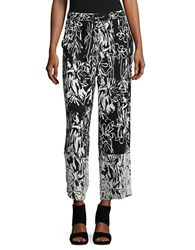 French Connection Copley Crepe Pants Black White