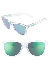 Oakley Women's 'Frogskins' 55Mm Sunglasses Crystal Clear Jade Iridium Crystal Clear Jade Iridium