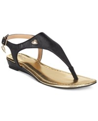 Thalia Sodi Isaa Thong Demi Wedge Sandals Only At Macy's Women's Shoes Black