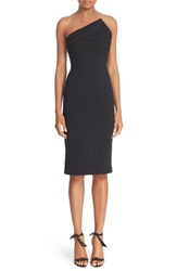 Brandon Maxwell Women's 'Cady' Triangular Neck Strapless Crepe Sheath Dress