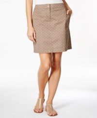Karen Scott Polka Dot Print Skort Only At Macy's