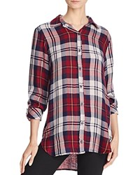 Bella Dahl Plaid Button Down Shirt Russet