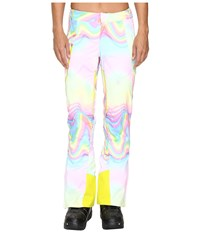 Spyder Temerity Athletic Fit Pant Soundwave Print Women's Casual Pants White