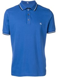 Fay Embroidered Logo Polo Shirt Blue