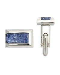 Bloomingdale's The Men's Store At Polished Rhodium Sodalite Rectangle Cufflinks 100 Exclusive Silver