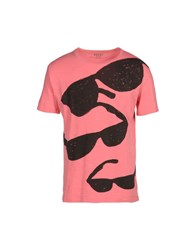 Edun Topwear Short Sleeve T Shirts Men Pastel Pink