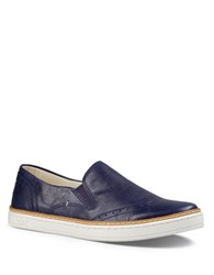 Ugg Hadria Semi Brogue Leather Slip On Sneakers Blue