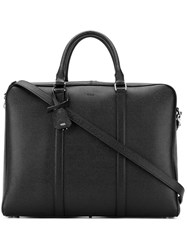 Tod's Classic Briefcase Men Calf Leather One Size Black