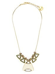Camila Klein Multiple Triangle Necklace Gold