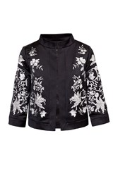 Ted Baker Abhy Embroidered Collared Jacket Black