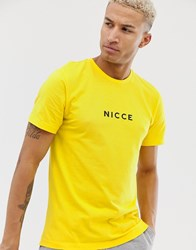 Nicce London T Shirt With Logo In Yellow