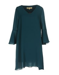 Bonsui Dresses Short Dresses Dark Green