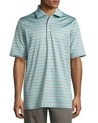 Bobby Jones Putter Striped Polo Shirt Surf Blue