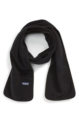 Men's Patagonia Synchilla Fleece Scarf Black