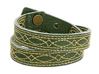 Frye Campus Stitch Cuff Olive Dakota Bracelet Green