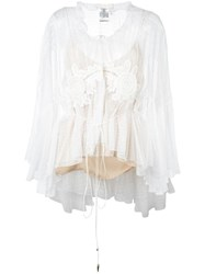 Chloe Embroidered Lace Blouse White