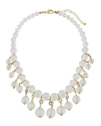 Fragments For Neiman Marcus Lucite And Crystal Statement Necklace Gold