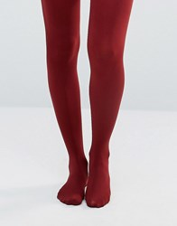 Gipsy 100 Denier Luxury Opaque Tights Burgundy Red