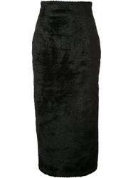 Sophie Theallet Textured Pencil Skirt Black