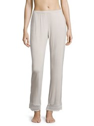 Saks Fifth Avenue Lori Lace Accented Wide Leg Pants Shadow