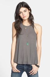 Women's Free People 'Long Beach' Tank Grey