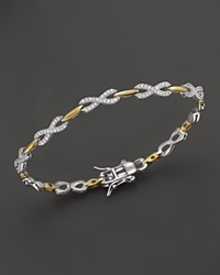 Bloomingdale's Diamond Infinity Bracelet In 14K Yellow And White Gold 1.0 Ct. T.W.