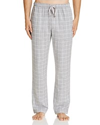 Naked Double Cloth Gauze Check Lounge Pants Metro Grey