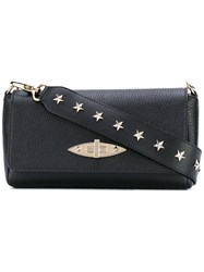 Red Valentino Studded Strap Shoulder Bag Women Calf Leather One Size Black