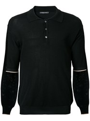 Y Project Layered Polo Shirt Black