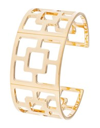 Trina Turk Patterned Cuff Bracelet Gold