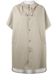 Stutterheim 'Pomma' Coat Women Cotton Polyester Pvc Metal One Size Nude Neutrals