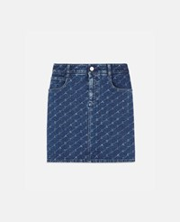 Stella Mccartney Blue Denim Mini Skirt