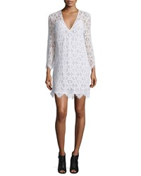 Frame Denim Le Lace Long Sleeve Sheath Dress Blanc Size L