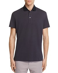 Theory Lukis Contrast Collar Slim Fit Polo Shirt 100 Bloomingdale's Exclusive Light Night Eclipse