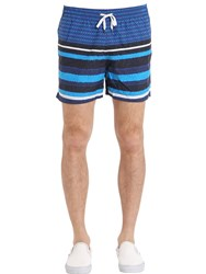 Danward Stripe Printed Nylon Swim Shorts