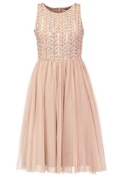 Lace And Beads Aileen Cocktail Dress Party Dress Taupe Rose