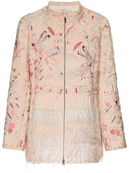 By Walid Samia Wadded Silk Jacket Pink